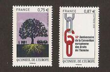 FRANCE 2010 - Timbres de Service CONSEIL de L'EUROPE n° 146 et 147 NEUFS** LUXE