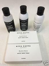 Acca Kappa Shampoo Conditioner Body Lotion & 2x Soap Bars Travel Kit