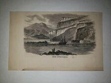 Jemmy Button Button's Sound 1864 Hw Sketch Print Rare!