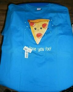 Junior Girls Tee Turtle 2XL Pizza I Love You Tee T-Shirt New with Tags Retired