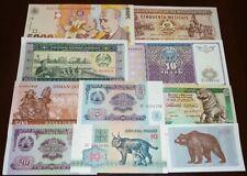 Guinea, Croatia, Zimbabwe... LOT x 10 notes UNC