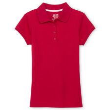 IZOD Girls Short Sleeve Interlock Polo T Shirt School Uniform New