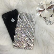 For iPhone X 10 Clear Crystal Diamond Bling Back Case w/ Swarovski Crystals 24ss