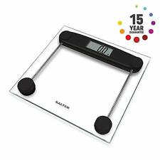 Salter Digital Bathroom Scale – Toughened Glass, Large LCD, Step-On Technology