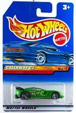 Hot Wheels Callaway C7 Green w/SB's International Card 1999
