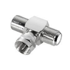Sat Satellite Satellite Adapter Distributor Splitter 2x F Socket to 1x F Plug