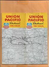 UNION PACIFIC RAILROAD  TIMETABLE 1966  VINTAGE