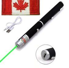 SUPER BRIGHT Rechargable USB Green Laser Pointer  SOS Signal