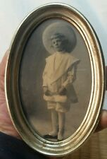 antique photograph young wealthy boy child with hat
