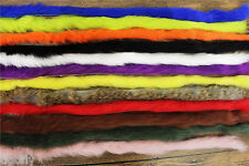 12 Colors Straight Cut Rabbit Zonker Strips Hare Hair Fur Fly Tying Materials
