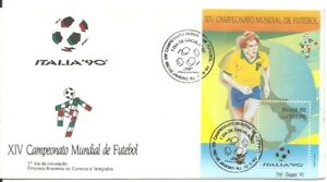 BRAZIL 1990 FOOTBALL SOCCER WORLD CUP CHAMPIONSHIP Italy 90 Official FDC