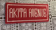 Brand New Akita Avenue Needlepoint Sign For Cocker Spaniel Rescue Charity