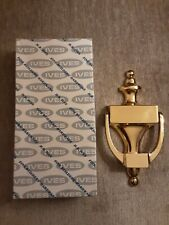 """H.B Ives Bright Brass Finish Door Knocker 8"""" New In Box"""