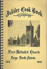 FARGO ND 1949 ANTIQUE ETHNIC SCANDINAVIAN *METHODIST CHURCH COOK BOOK *LOCAL ADS