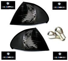 2 CLIGNOTANT NOIR TRANSLUCIDE BMW SERIE 3 E46 BERLINE PHASE 1 98-01 320 330 D XD