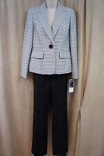 "Evan Picone Petite Pant Suit Sz 4P Khaki Multi ""Nantucket"" Business Evening"