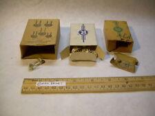 3 Vintage OLD HARDWARE STOCK White Insulated Staples BLAKE + RODALE ephemera