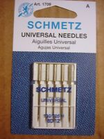 SCHMETZ SEWING MACHINE NEEDLES~PACK OF 5~UNIVERSAL SIZE 12/80~#1709