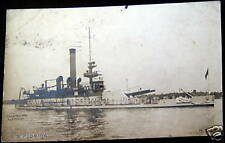 **1904 BATTLE SHIP U.S.S. FLORIDA ~ RARE RPPC