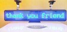 "Programmable LED Car Moving Scrolling Message Display Sign Board 21""x4"" Blue"