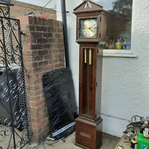 vintage grandfather clock fhs movement germany