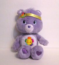 "Care Bear Harmony Bear 14"" Plush with Headband Toy Purple 2007 NWOT"