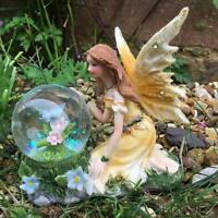 Beautiful Fairy And Waterball Garden Landscape Ornament Butterfly FY361C-PU