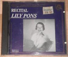 Lily Pons Recital (CD)