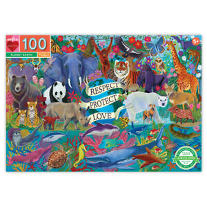 Eeboo Planet Earth 100 Piece Kids Toy Family Puzzle Age 5+  04139