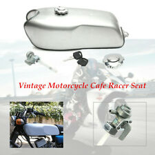 9L/2.4 Gallon Steel Vintage Cafe Racer Gas Fuel Tank fit for BMW Honda Yamaha
