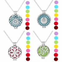 Perfume Essential Oil Aromatherapy Diffuser Necklace Hollow Locket Pendant New