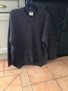 Knitworks New Zealand Mens Wool Fishermans Sweater Navy Blue Mix Size 3XL VGC