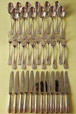 PERLES CHRISTOFLE Entremets dessert salad SET Forks Spoons Knives Silver plated