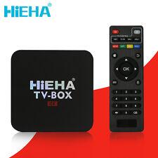 Hieha 4K Quad Core Android 7.1 TV BOX HD 18 8GB Sports Media Player New