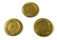 LOVELY Girl Scout BLING PIN BROOCH 3-Face Profiles LEADER GIFT Multi=1 Ship