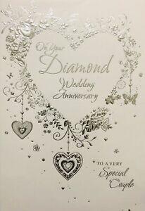 Happy Diamond Wedding Anniversary Card