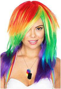 Celebration Long Rainbow Layered Wig