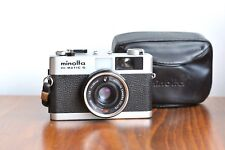 MINOLTA  Hi-Matic G,   35mm Compact film Camera   w/ Leather Case      - Japan