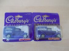 "2 x Majorette Model A Ford ""Cadbury's Collection"" Scale 1:60 in blister packs"