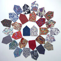 Mens Pocket Square Paisley Floral Polka Dot Handkerchief Hanky Wedding Suit Spot