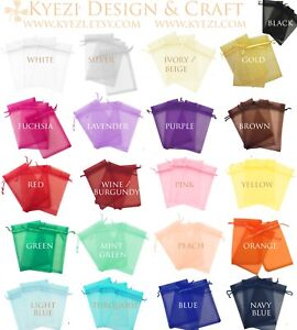 "2""x3"" Sheer Drawstring Organza Bags Jewelry Pouches Wedding Party Favor Gift Bag"