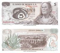 Mexico 5 Pesos 1969  P-62a Banknotes UNC