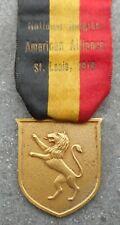 BELGIQUE / ETATS-UNIS - ST LOUIS 1918: NATIONAL BELGIAN AMERICAN ALLIANCE MEDAL