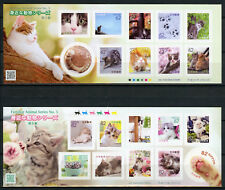 Japan 2018 MNH Familiar Animals Series 5 Cats 2x 10v S/A M/S Pets Cat Stamps
