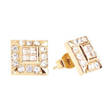 Iced Out Bling Clou d'oreille Box - HOT SQUARE gold