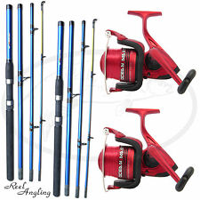 2x Lineaeffe Oceanmaster 70 Sea Fishing Reels + Travel Rods 9ft 4piece NGT