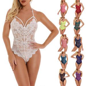 Womens Lace Bodysuit Lingerie Underwear Ladies Babydoll Nightwear Sexy Sleepwear