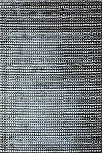 4'x 6' Rug | Modern Rug Hand Woven Artificial Silk White Black Area Rug