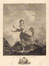 Fragonard french fuite design old art painting affiche imprimé BB5332B