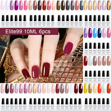 Elite 99 6 un. Color Gel Nail Polish UV LACA manicura arte conjunto de kits De Regalo De Navidad
